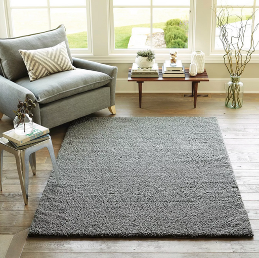 Size 5'X7' Color Gray Solid Tufted Micropoly Shag Area Rug - Project 62™