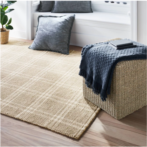 Size 7'x10' Cottonwood Hand Woven Plaid Wool/Cotton Area Rug Neutral - Threshold™ designed with Studio McGee
