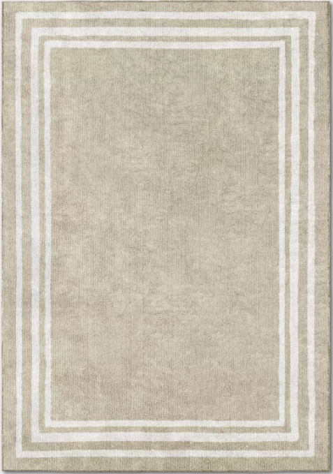 Size 7'X10' Color Tan/Ivory Tetra Border Rug - Threshold™