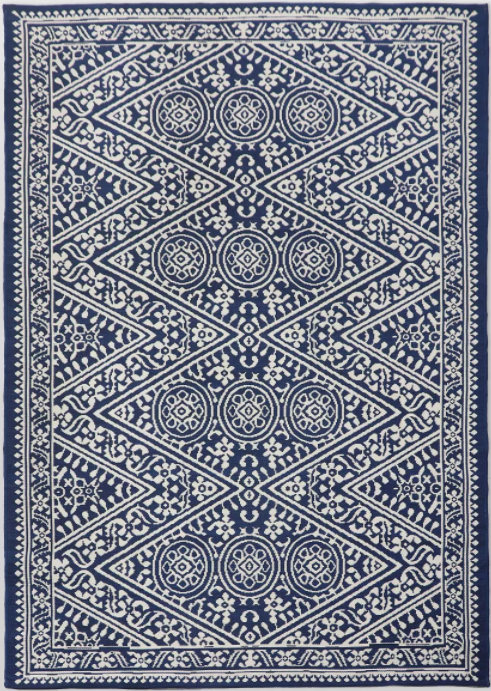 Size 6'x9' Tapestry Outdoor Rug Blue - Threshold™