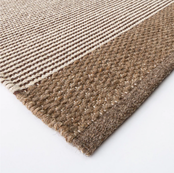 Size 7'x10' Hillside Hand Woven Wool Cotton Area Rug Brown - Threshold™ designed with Studio McGee
