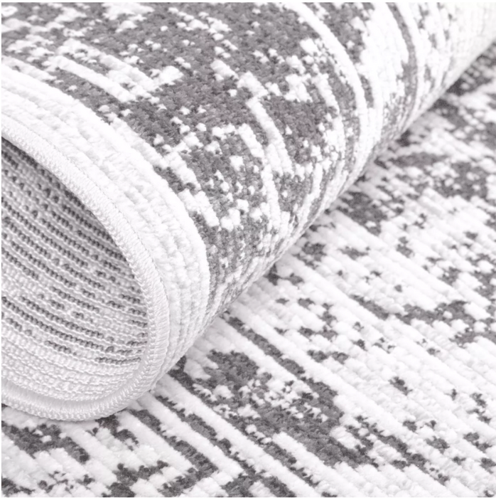 "Size 5'2""x7'2"" Color Gray Starlight Willow Outdoor Patio Rug - Nicole Miller"