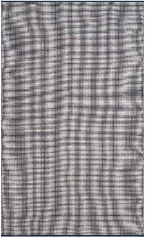 Size 5'X8' Color Ivory/Navy Costa Mesa Rug - Safavieh