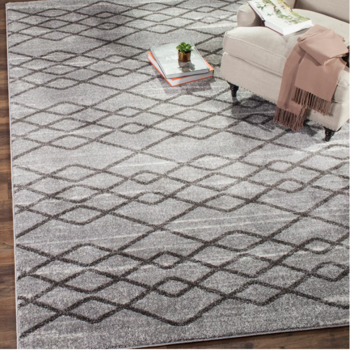 Size 5'X8' Color Black & Gray Alessandria Rug - Safavieh