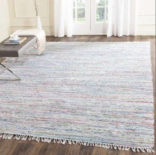 Size 6'X9' Color Light Green/Multi-Colored Ipswich Rug - Safavieh