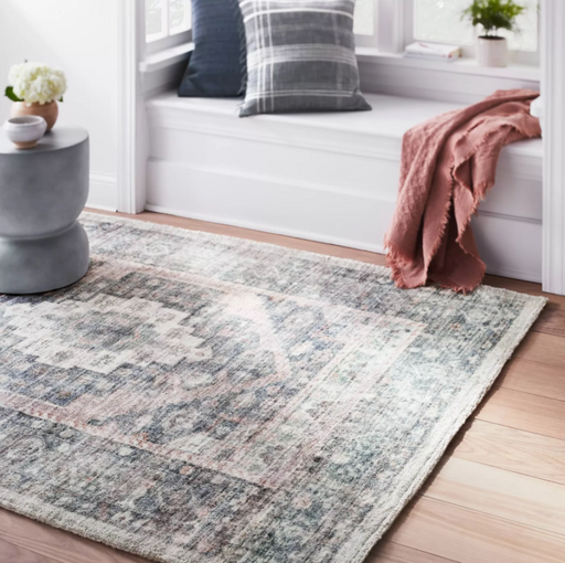 Size 5'x7' Brighton Distressed Vintage Persian Rug Light Blue - Threshold™ designed with Studio McGee