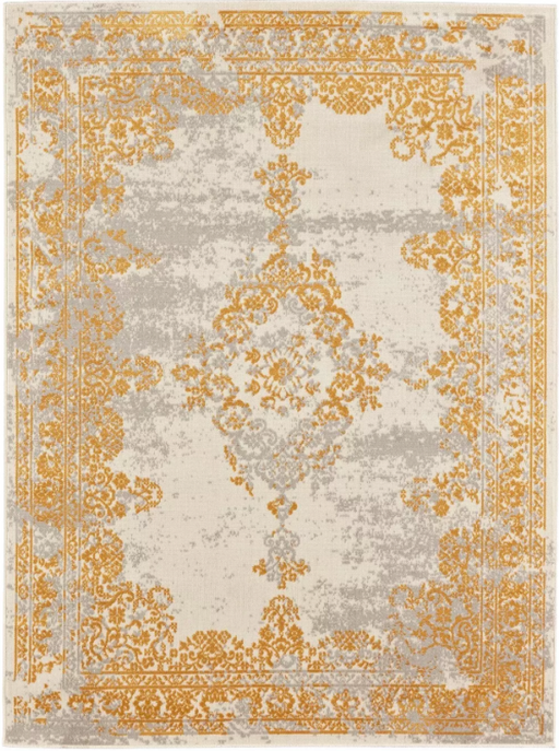 Size 5'X7' Color Yellow Rhett Overdyed Woven Rug - Threshold™