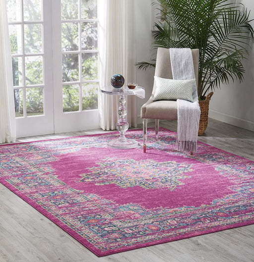 Size:8 x 10 Color:Fuchsia, Rectangle Nourison Passion Area Rug