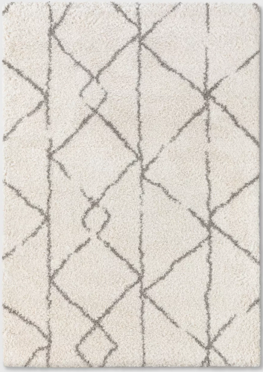 Size 7'X10' Color Cream Geometric Design Woven Rug - Project 62™