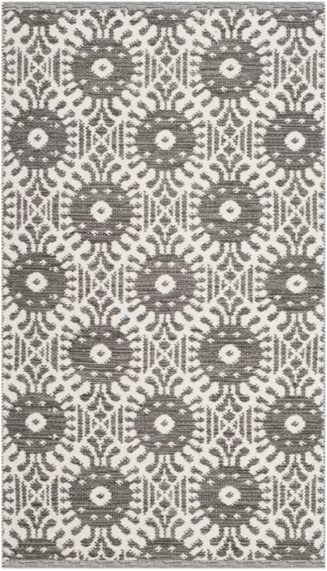 Size 5'X8' Color Charcoal/Ivory Nedra Geometric Woven Area Rug - Safavieh