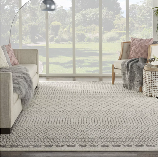Size 8' x 10' Color Ivory/Grey Nourison Passion Area Rug