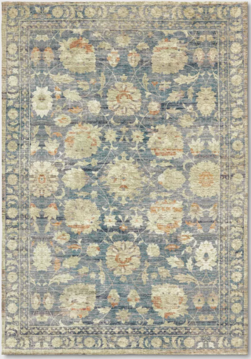 Size 7'x10' Boxford Digital Print Boarder Persian Rug Blue/Ivory - Threshold™