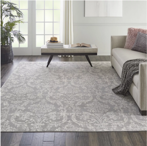 "Size 7'10"" x 9'10"" Color Grey Nourison Jubilant Blue Indoor Area Rug"