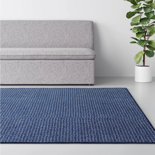 Size 7'X10' Color Blue Indoor/Outdoor Solid Tufted Area Rug - Made By Design™
