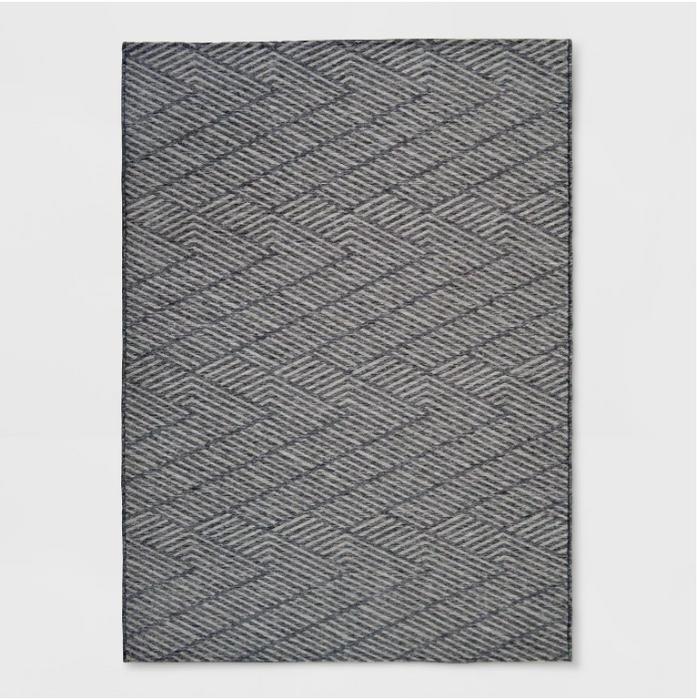 Size 5'X7' Seagull Stripe Outdoor Rug Gray - Project 62™