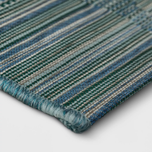 Size 5' x 7' Cool Stripe Geo Outdoor Rug Cool Blue - Project 62™