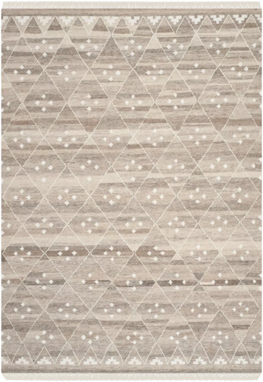 Size 6'X9' Color Natural/Ivory Sofitel Natural Kilim Dhurry Rug - Safavieh