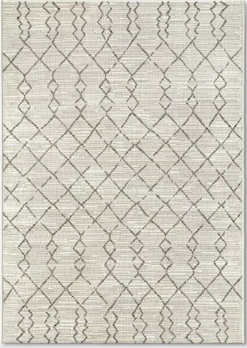 Size 5'x7' Color Cream Diamond Global Coast Outdoor Rug - Project 62™