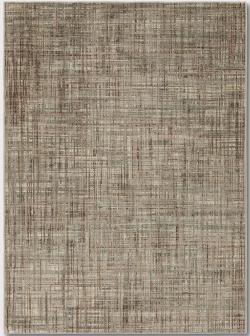 Size 5'X7' Color Beige Woven Gridlines with Thin Stripe Rug - Project 62™