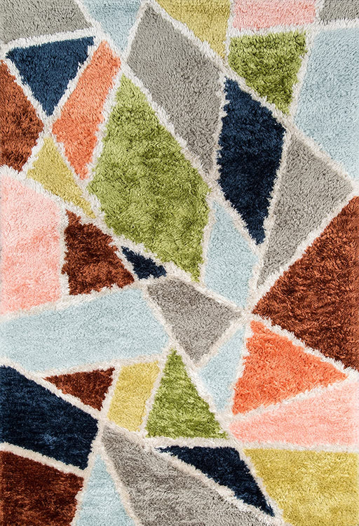 5x8 Novogratz Retro Collection Prism Shag Area Rug, Multicolor
