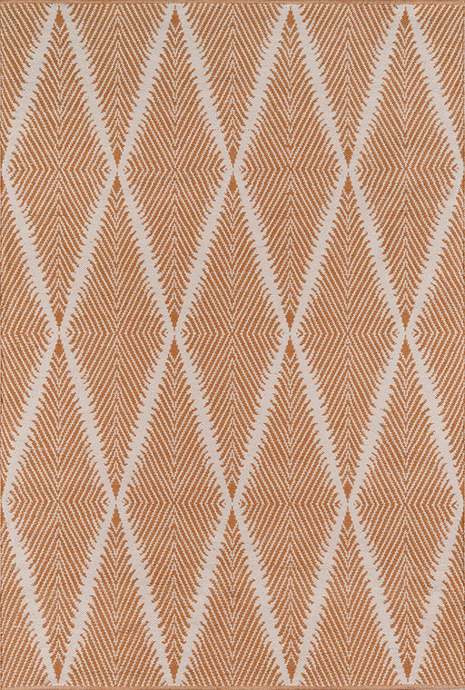 5x8 Color:Orange  Erin Gates by Momeni River Beacon Orange Hand Woven Indoor Outdoor Area Rug
