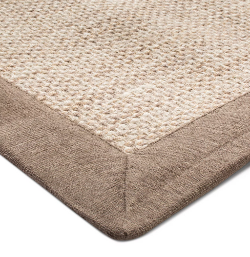 7'X10' Tan Solid Woven Border Rug - Threshold™