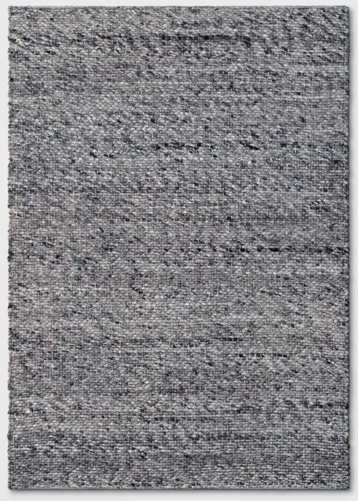 5'X7' Charcoal Heather Chunky Knit Wool Woven Rug - Project 62™