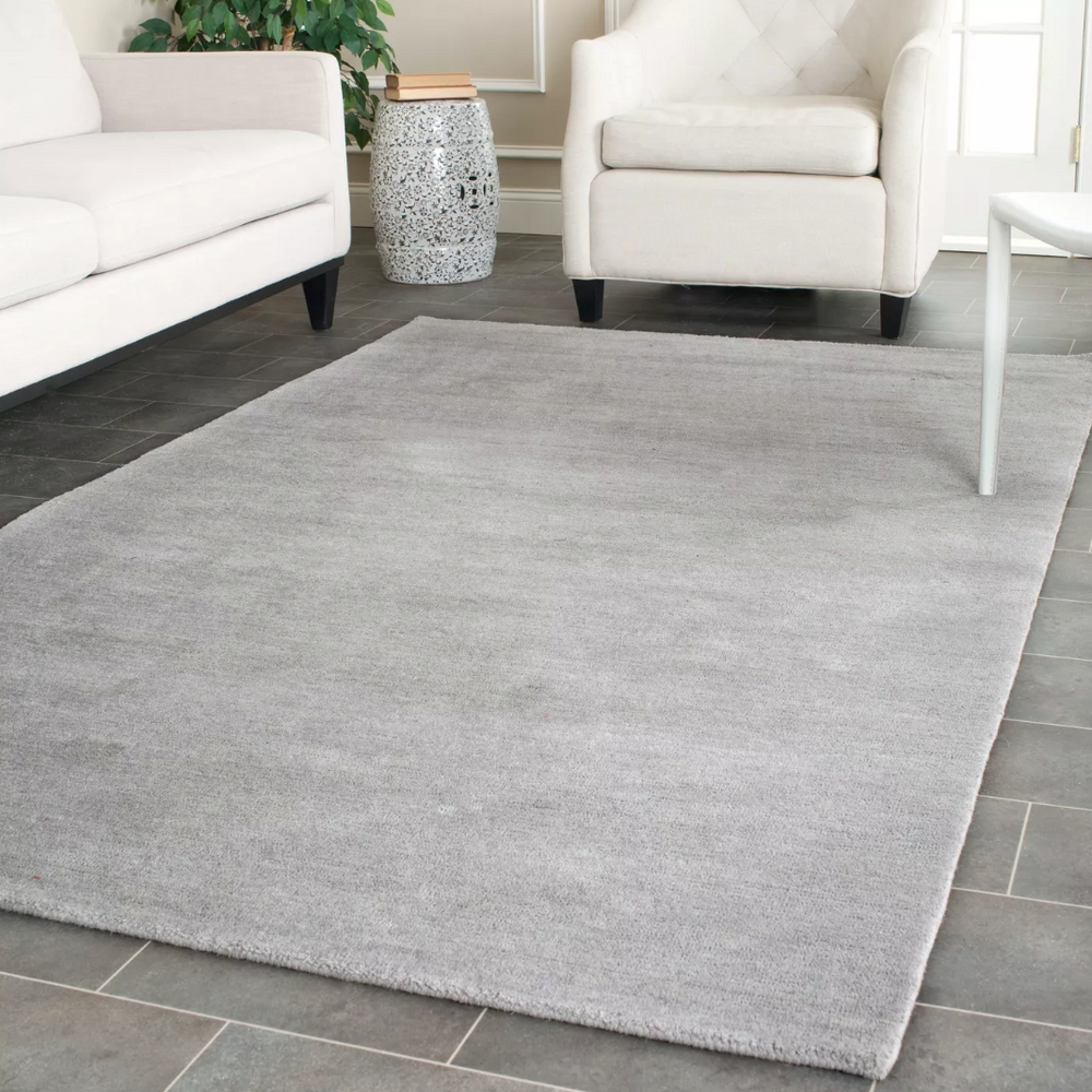 4'x6' Gray Mandy Solid Tufted Rug - Safavieh