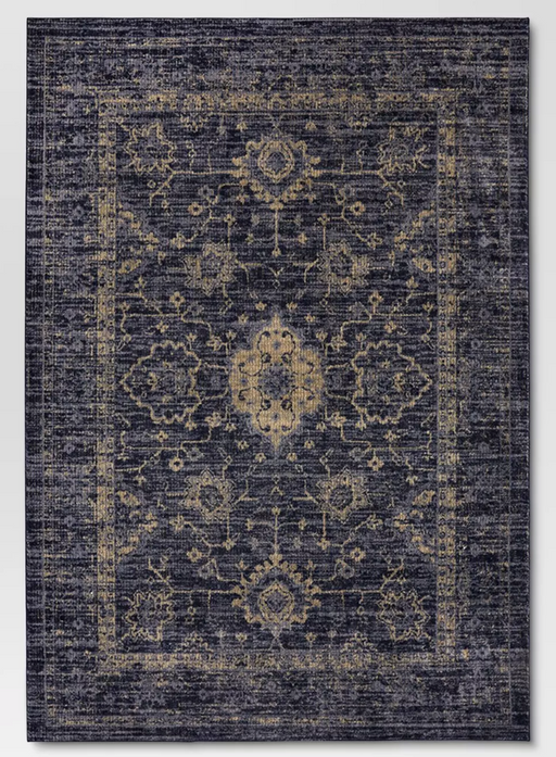 7'x10'  Indigo Vintage Distressed Rug - Threshold™