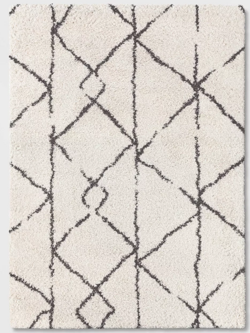 5'X7' Cream Tribal Design Woven Rug - Project 62™