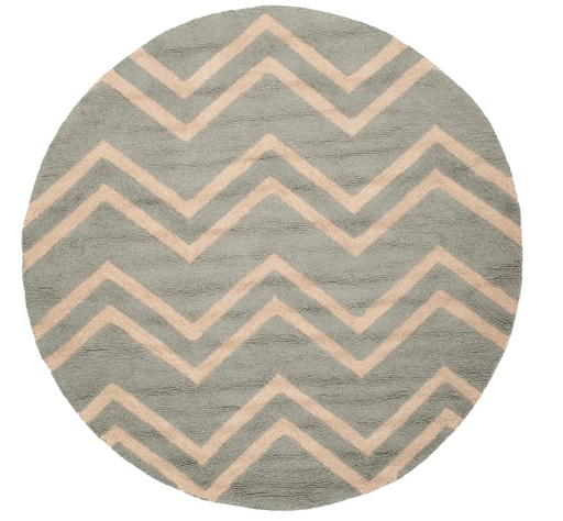 6' Round Grey / Beige Safavieh Savannah Area Rug