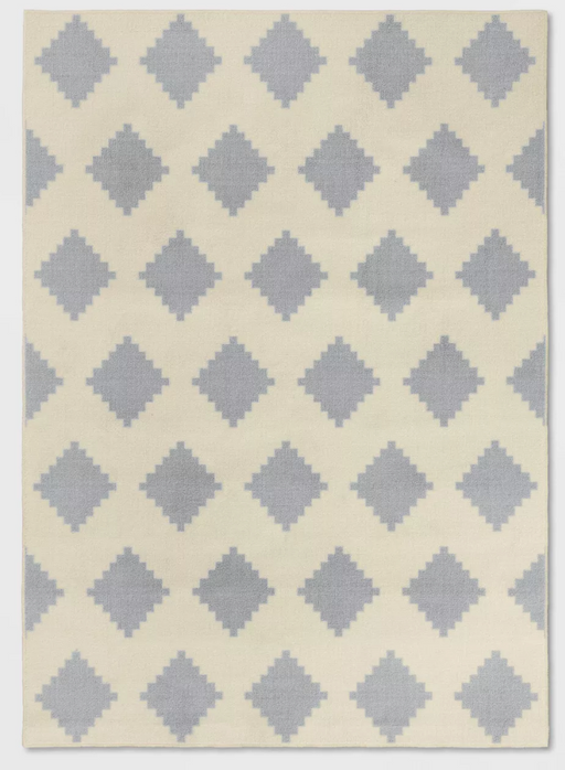 5'X7' Gray/Grey Diamond Printed Rug - Room Essentials™