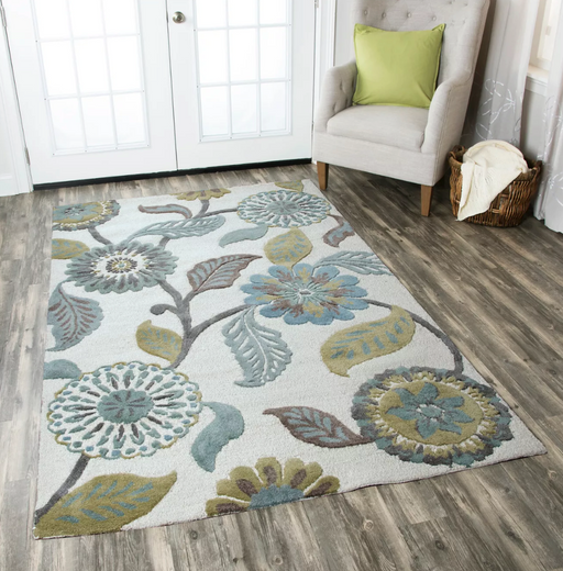 5'X8' Brushed Sage Rizzy Home Eden Harbor Collection Rugs