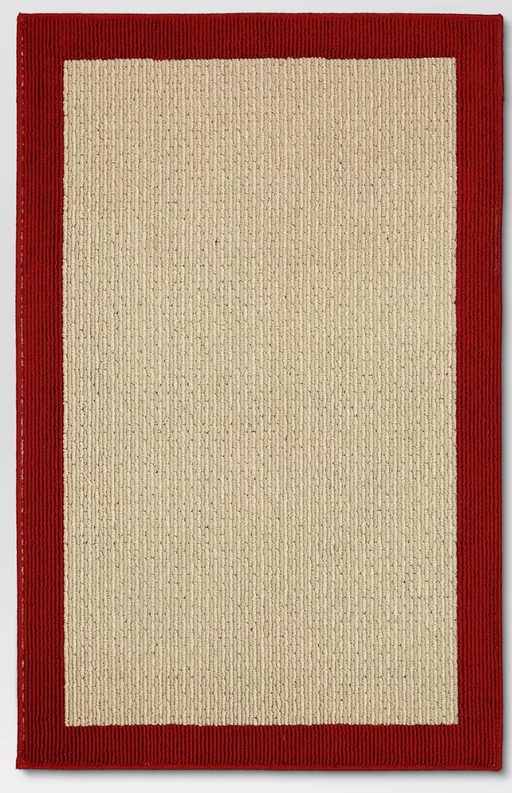 "4'X5'6"" Red Madison Washable Rug - Threshold™!"