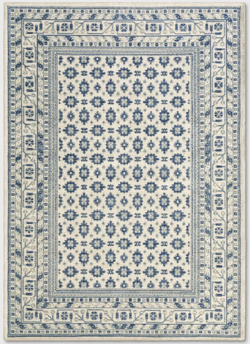 5'X7'  Ivory Indoor/Outdoor Floral Woven Area Rug - Threshold™