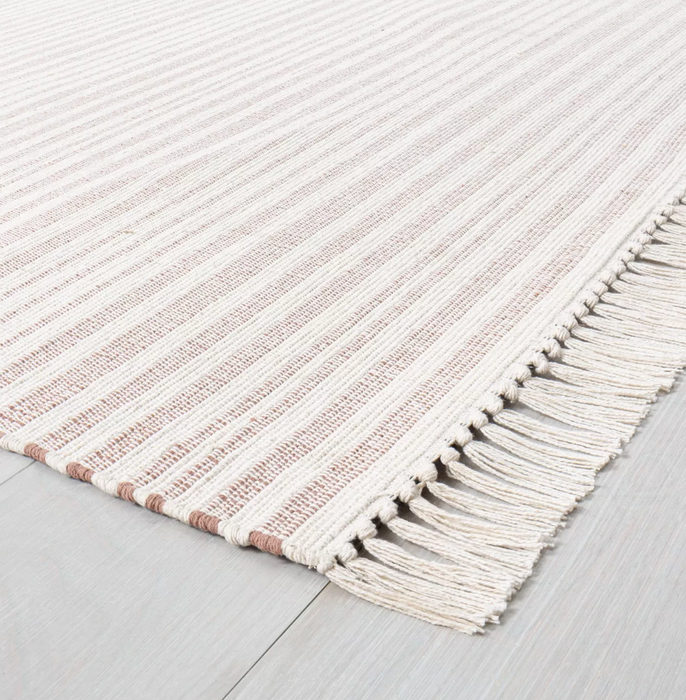 5x7 Color Rusty Red Stripe Fringe Area Rug - Hearth & Hand™