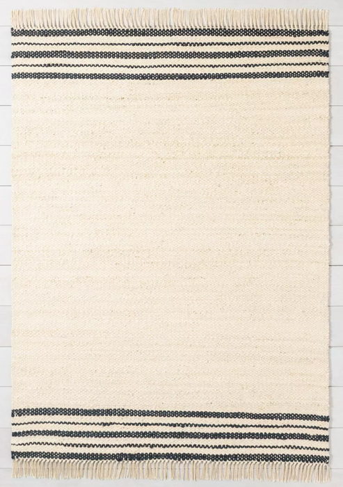 9x12 Jute Rug Charcoal Stripe - Hearth & Hand™ with Magnolia Area Rug