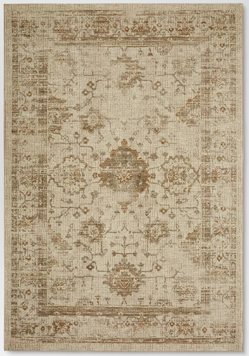 7x10 Color Tan Vintage Distressed Rug - Threshold™