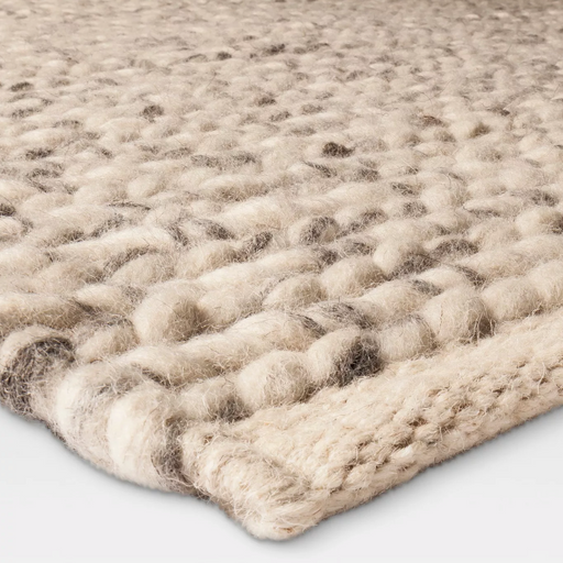 7x10 Color Ivory Chunky Knit Braided Wool Rug By - Project 62™