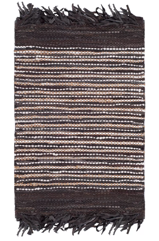 5x8 Color Dark Brown/Multi-Colored Itzel Woven Rug - Safavieh