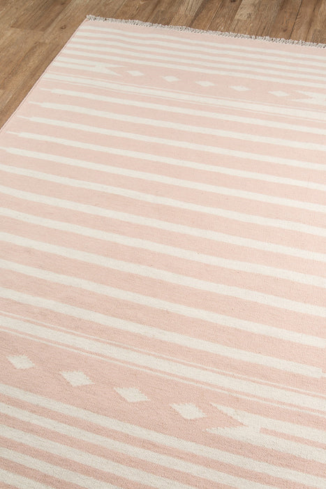 4x6 Modern Pink Wool Hand Knotted Area Rug By Momeni