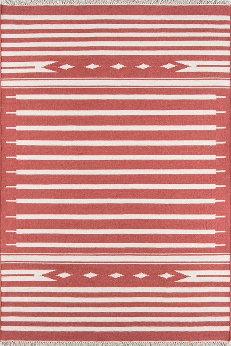 5x8 Thompson Billings Red Area Rug by Erin Gates by Momeni