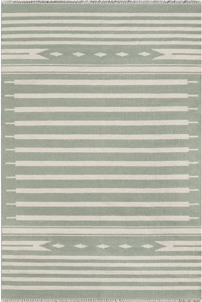5x8 Color Light Green ERIN GATES - THOMPSON - BILLINGS AREA RUG by Erin Gates by Momeni