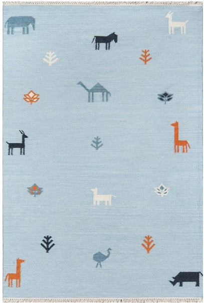 5x8 Color Blue THOMPSON - PORTER AREA RUG by Erin Gates by Momeni