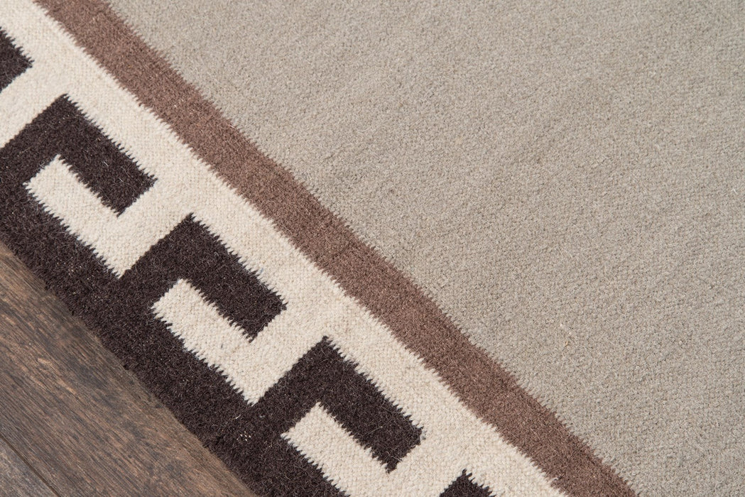 5x8 Color Brown Thompson Hinkley Hand Woven Wool Area Rug Erin Gates by Momeni