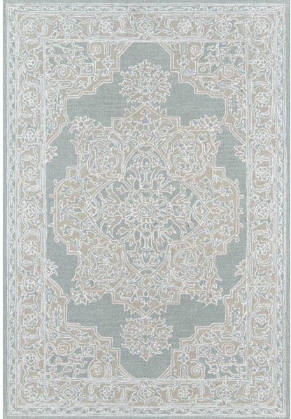 5x8 Color Light Blue VALENCIA AREA RUG by Momeni