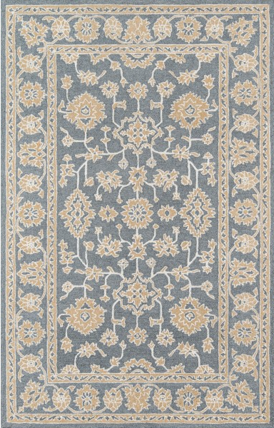 5x8 Color Grey VALENCIA AREA RUG by Momeni