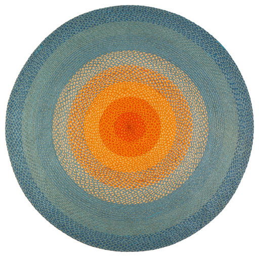 Size 8'x8' Olwyn Braided Round Area Rug By Anji Mountain