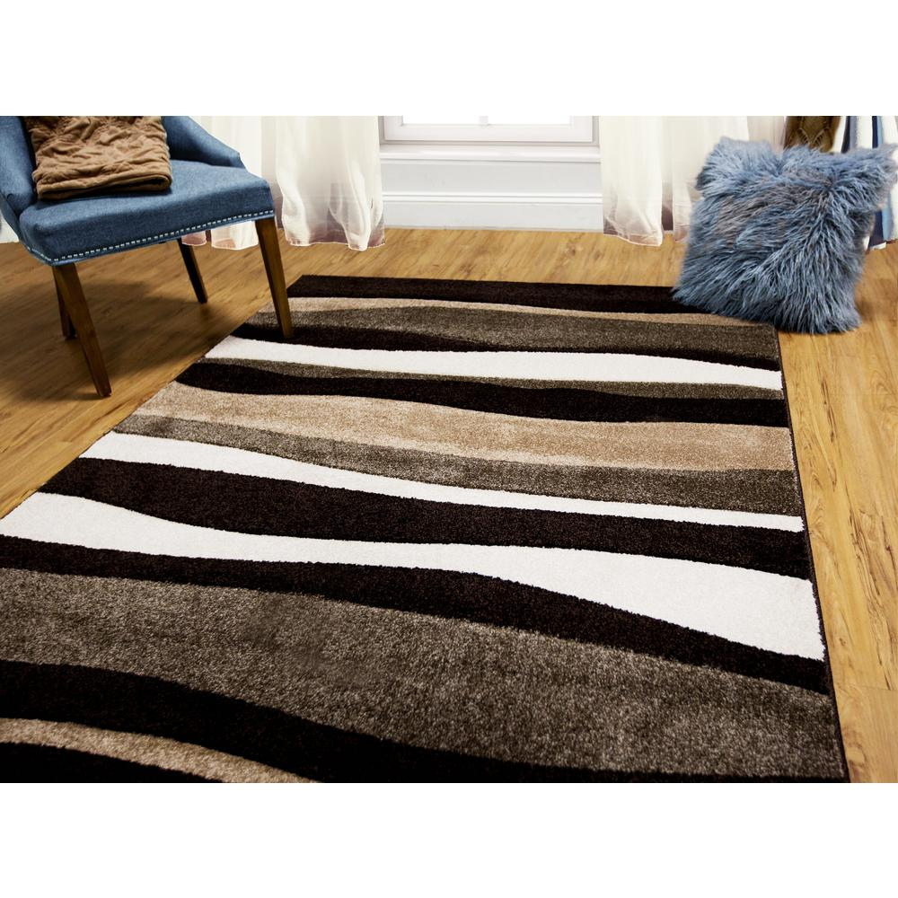 8 ft. x 10 ft. Indoor Dark Brown Area Rug