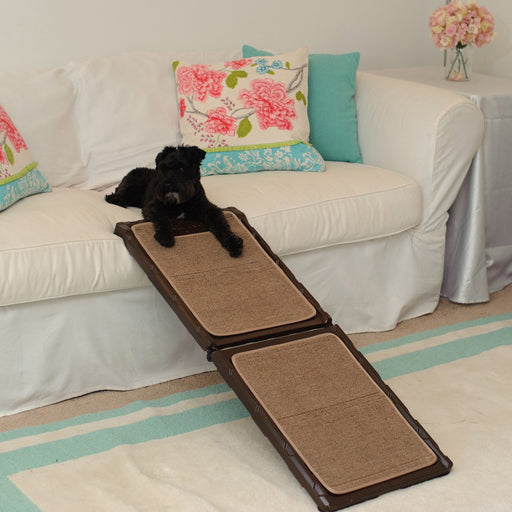 Gen7Pets Indoor Mini Carpet Pet Ramp for Dogs and Cats up to 200lbs – Lightweight, Compact and Portable with Premium Quality -Product is a Open Box Sample and will be repackaged like new condition